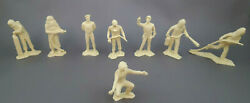 Marx Cape Canaveral Air Force Vintage Playset Cream Plastic Space Lot Of 8