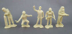 Marx Cape Canaveral Air Force Vintage Playset Cream Plastic Space Lot Of 5
