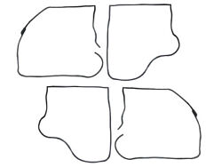 New 1960-63 Falcon Door Weatherstrip 4-door Station Wagon Set Of Four Ford