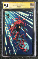 Cgc 9.8 Ss Silver Surfer Black 2 Double Signed - Cates And Camuncoli Sdcc Venom