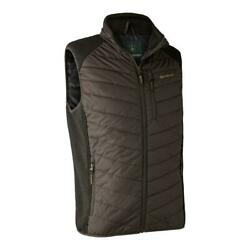 Deerhunter Moor Padded Waistcoat W. Knit Brown Leaf Other Hunting Clothing And