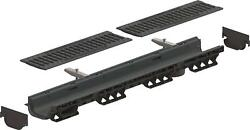 Standartpark - 4 Inch Trench Drain Cast Iron Package Slotted - 3.2 Depth -