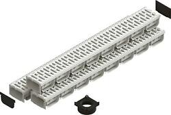 Standartpark - 4 Inch Trench Drain System With Grate - Ivory Color - Spark 2