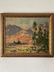 Thomas Hill Mckay Early California Plein Air Oil Painting Antique Landscape 1930
