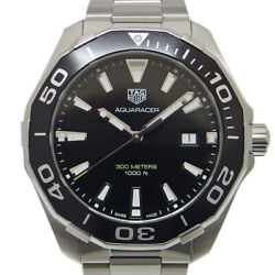 Wristwatch Tag Heuer Aquaracer 300m Way101a Menand039s Used Silver Black 43mm