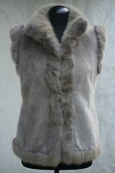 New Loro Piana Reversible 100 Mink Canadian Marten And 100 Cashmere It 46 10k