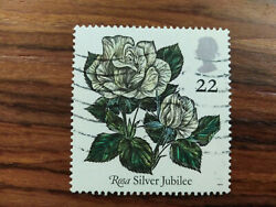 Great Britain Error Rosa Silver Jubilee Without Pink Coulor Rrr Unlisted