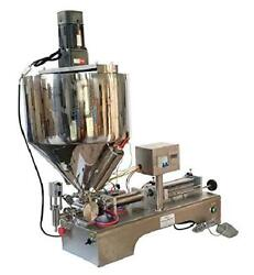 Intbuying 110v 10-300ml Paste Liquid Heating Mixing Filling Machine With Vertica