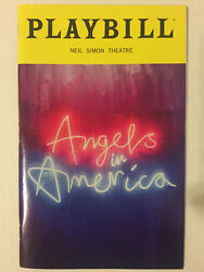 Angels In America Playbill Broadway Nyc May 2018 Andrew Garfield Nathan Lane