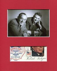 Richard Rodgers Composer Signed Autograph Photo Display W/ Oscar Hammerstein Jsa