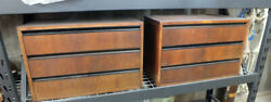 Vintage Omni Pole Mount Cabinet With Drawers Pair Nelson Css Era Modern Design