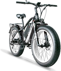 Cyrusher Xf650 1000w Electric Mountain Bike 264 Inch Fat Tire E-bike 7 Speeds Be