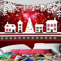 White House Snowflakes 3d Wall Hang Cloth Tapestry Fabric Decorations Decor