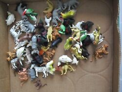 Interesting Lot Of Vintage 1970s 80s Plastic Barnyard And Zoo Animals