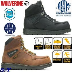 Wolverine Composite Moc Toe Slip Oil Electrical Resistant Waterproof Leather Wv