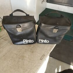 Puch Moped Jcpenney Pinto Swinger Etc Rear Black Saddle Bags Hard To Find Lk