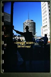 1960 Capitol Records Building And Man, Los Angeles Hollywood, Original Slide C17b