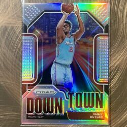 2020-21 Panini Prizm Jimmy Butler Miami Heat Downtown Silver Prizm Refractor