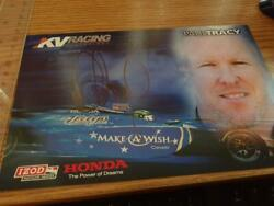 Paul Tracy Team Kv Racing Authetic 8 X 5.5 Signed Drivers Card