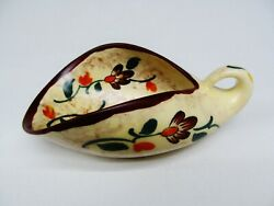 Antique Gouda Holland Arts And Crafts Pottery Art Deco Candy Dish Circa 1920 S