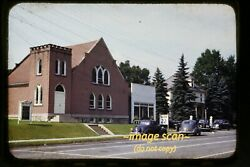 Pacific Gas Station Sign Lewistown Pennsylvania In 1949 Car Original Slide E8a