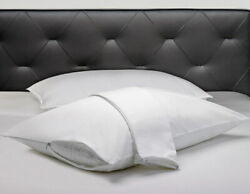 Set of 2 100% Cotton 400 Thread count Pillow Protectors with Zippered