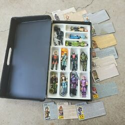 Vintage Gi Joe Lot-- 12 Figures Complete With Accessories And File Cards