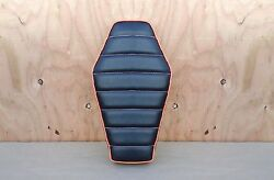 16 Coffin Black/orange Old School Style Minibike Seat Scooter Mini Bike Boonie
