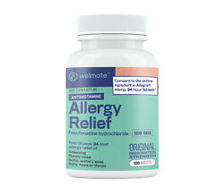 Welmate Allergy Relief   Fexofenadine Hcl 180 Mg   100 Count Tablets
