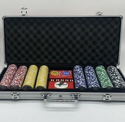 Budweiser Complete Poker Set New Aluminum Case Factory Sealed 400 Chips And Cards