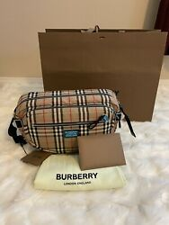 Burberry Large Cannon Check Bag $850.00