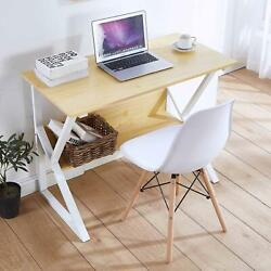 Computer Desk Dining Table Office Desk Sturdy Writing Workstation Home Office