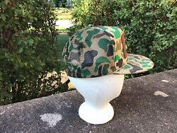 Vintage Camo Trucker Hat Tech Energy Patch Mesh Snapback Rare