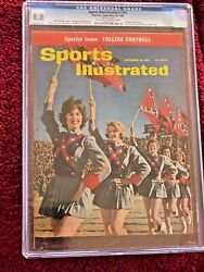 Sports Illustrated 09/24/62 Ole Miss Chearleaders Newsstand Cgc 8.0 1 Of 1