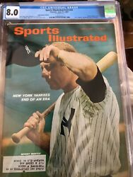 Sports Illustrated 1965 Mickey Mantle Cgc 8.0
