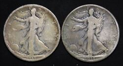 1918-d And 1918-s Walking Liberty Half Dollars. Nice Early Lot Of 2