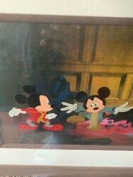 Disney Mickey Mouse And Pauper Original Production Cel Painting Framed.