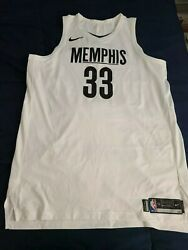 Nike Game Issued Used Worn Marc Gasol Memphis Grizzlies City Edition I Am A Man