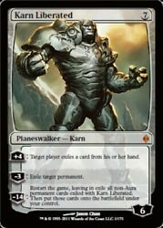 Karn Liberated - Foil X1 - New Phyrexia - Light Play English - New Phyrexia
