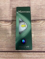Masters Golf Ball Sleeve Of 3 Titleist Pro V1 Balls 2021 Masters Pga New