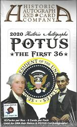 Potus The First 36 Sealed Hobby Box 16 Packs Historic Autograph Co Dna Sfc