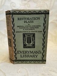 Antique Book Of Restoration Plays From Dryden To Farquhar - 1929