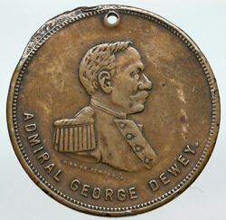 1899 United States Usa Admiral George Dewey Kirkmanand039s Soap Trade Token I90606
