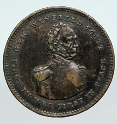 1852 United States Us Presidential Campaign General Winfield Scott Token I90610