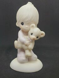 Precious Moments Collectable Girl W/ Doll 4 Years Old 4th Birthday Free Ship