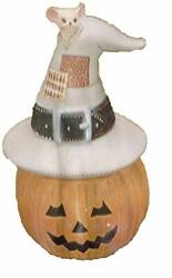 Pumpkin Witch 8 Candy Dish Ceramic Bisque, Ready To Paint Glazed Inside