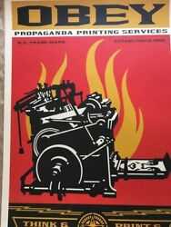 Street Art Obey Giant Shepard Fairey Print And Destroy Hand Signed And Dated
