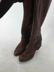 Frye Brown Braided Distressed Leather Boots 7.5M $45.00