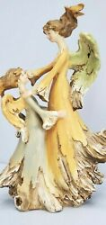 Tii Collections Angel with Girl Child Figurine Driftwood Ethereal Resin Vintage
