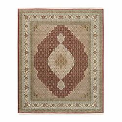 8and0391x10and0392 Red Fish Design Tebraz Mahi Wool And Silk Hand Knotted Rug G62606